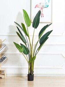 Planta de banano viajero, ave artificial del paraíso, simulación de plantas verdes en maceta, decoración de árboles para interiores, decoración Ins