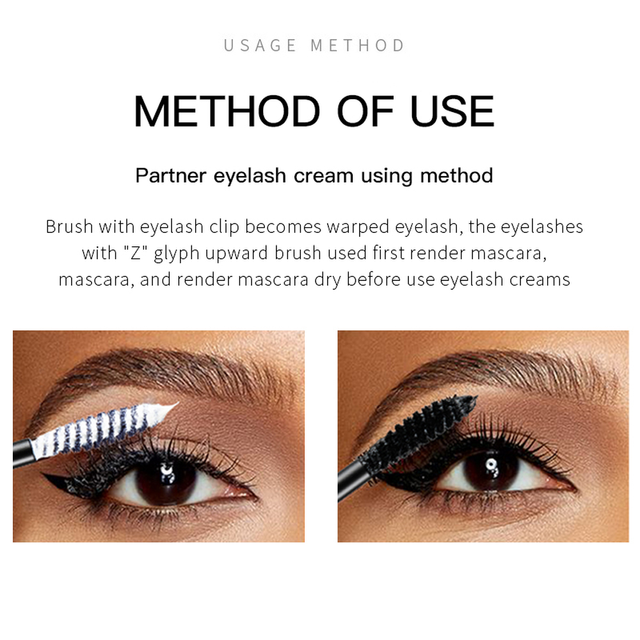 Pudaier 1PC Perfect Primer Lashes Mascara Partner Eye Lash Base Makeup Cosmetic White Fiber Eyelash Cream for Natural Big Eyes 1