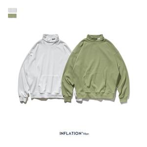 Image 5 - 인플레이션 2020 뉴 루즈 피트 와플 소재 스웨터 남성용 카울 넥 풀오버 가을 씬 남성 운동복 퓨어 컬러 9622W