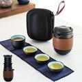 Чайный набор  китайские чайные наборы кунг-фу  чайные наборы  керамический портативный чайный сервиз  Открытый Дорожный чайный сервиз Gaiwan  ч...