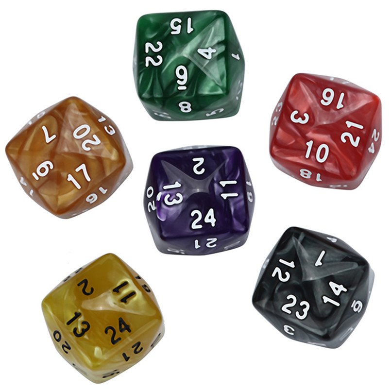 Game Polyhedron Poly Dice D24 Acrylic Freaky Dice Dados Poliedricos Dice D24 Dnd Dice Sets TRPG Game Lovers Dados De Rpg 30A20
