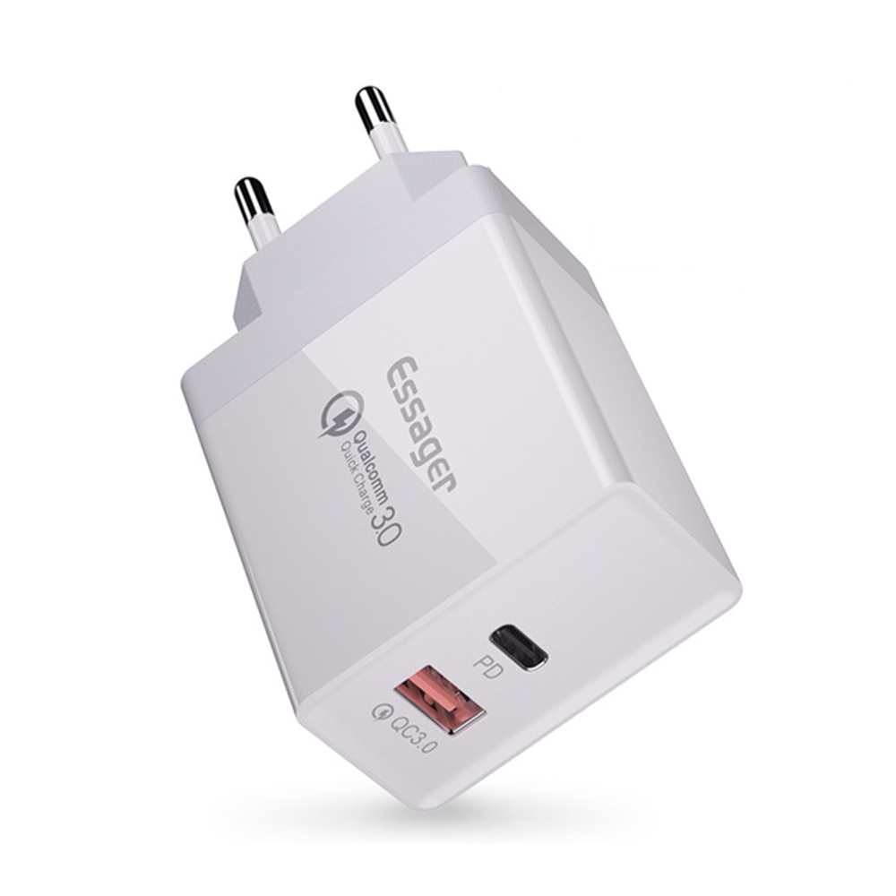 Essager Usb-Charger Plug-Turbo Type-C Fast-Charging-Wall IPhone Q-C3.0 Xiaomi PD