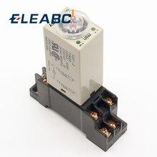 1 шт. H3Y-2 AC 220 В таймер задержки Реле времени 0-30 минут/секунд с базой