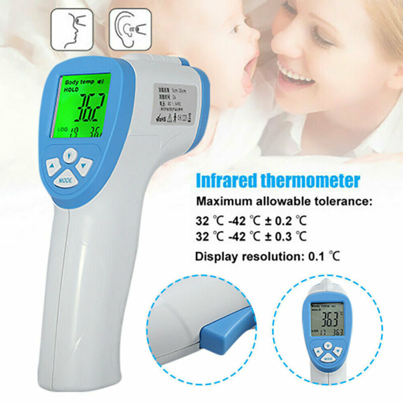 Non-Contact IR Infrared Digital Thermometer Medical Forehead Fever Thermometer Gun Baby Adult Body Temperature Sensor
