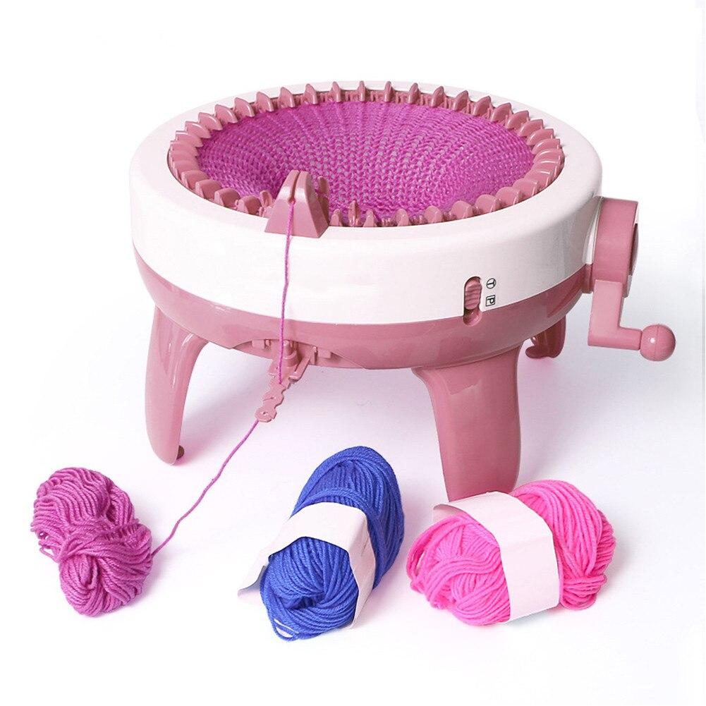 Машинка для вязания шерсти ручной работы, 48 спиц, цилиндрический шерстяной ткацкий станок, шарф, свитер, шляпа, носки, ленивый артефакт для в...