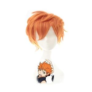 Image 5 - Anime Haikyuu!! Shoyo Hinata Cosplay Wig Short Orange Costume Play Wigs Halloween Party Wigs+wig Cap
