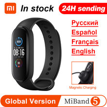 Xiaomi Mi Band 5 Smart Armband 4 Farbe 1.1 ''AMOLED Bildschirm Miband 5 Herz Rate Fitness Tracker Bluetooth Wasserdicht smartband