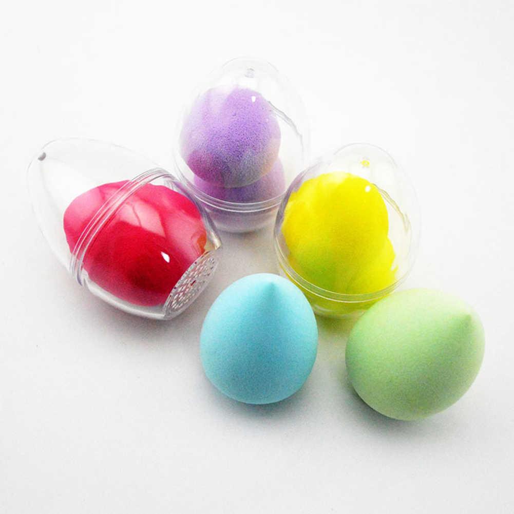 1PC 卵形透明空のメイクスポンジシェイパーパフホルダースタンド収納ボックス化粧品卵ケース