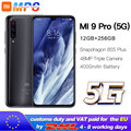 Xiaomi Mi 9 pro (5G) 256GB 12GB Mobilephone Mi9 pro 5G Snapdragon 855plus 5G 48MP Triple Cameras 4000mAh 6.39 '' 2340x1080