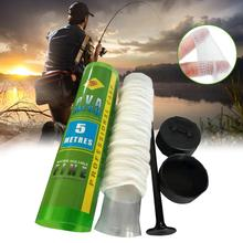 5M PVA Fishing Mesh Soluble Narrow Fishing Network Water Soluble Mesh White Refill Stocking Bait Bag Protect Fish Net water soluble pva film laundry detergent pods packing machine water soluble pva