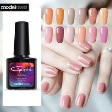 Modelones телесный цвет серия УФ-гель для ногтей Дизайн ногтей фиолетовый цвет светодиодный гель лак Полупостоянный УФ лак для ногтей