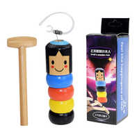 Divertido e inmejorable Daruma, juguete mágico de madera para hombre, accesorios mágicos para escenario