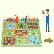 3D Wooden Magnetic Maze Puzzle Interactive Toys Magnet Beads Maze Children's Educational Handcraft Puzzle Toys Edu tional Toys цена
