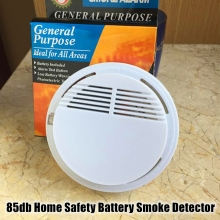 China Shenzhen 9V Battery Operated Sensitive Smoke Sensor Fire Smoke Detector Alarm Wireless RF433Mhz 2262 1527 Smoke Detector
