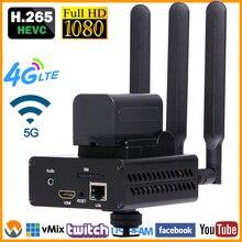 Hevc H.265 /H.264 3G/ 4G Lte 1080P Hd Hdmi Video Encoder Hdmi Zender Live uitzending encoder Draadloze Rtmp Srt Encoder Wifi
