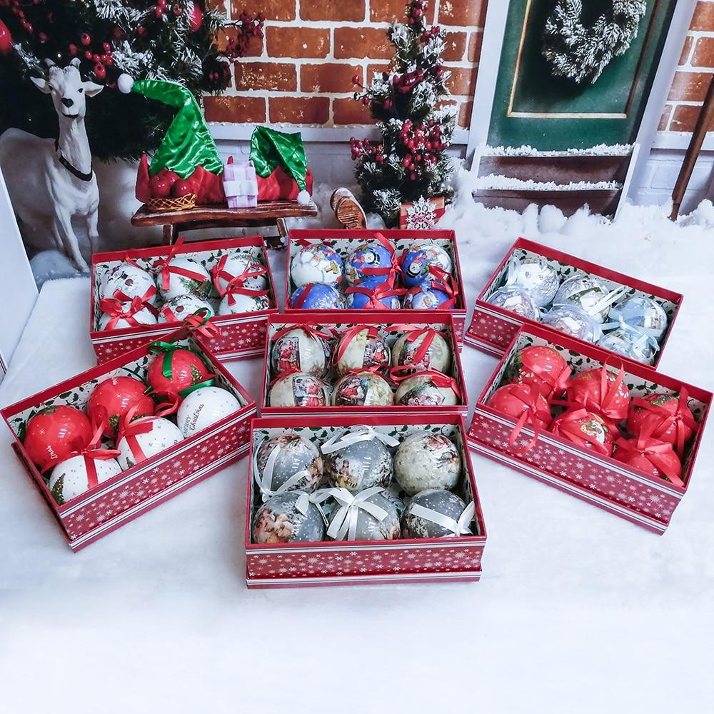 Шар-безделушка для поделок Xmas вечерние с Ремни Рождественская елка подвесной шар, украшение, Декор подарок Новый год с утолщённой меховой о...
