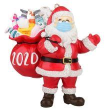 Фестиваль Санта Клауса с маской для лица орнамент Рождественская елка подвесное украшение подвеска подарок для семьи