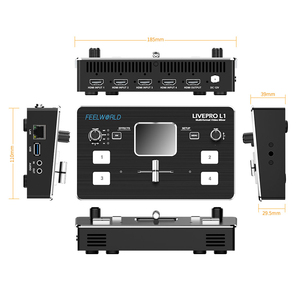 Image 3 - FEELWORLD LIVEPRO L1 Video Mixer Switcher 4 Channel Input USB3.0 Audio Embed De Embed for DSLR Video Live Streaming