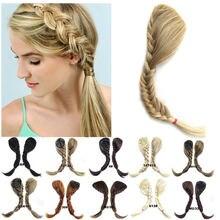 Синтетические плетеные челки для наращивания волос на заколке
