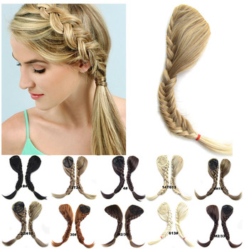 Clip on Hair Extension Synthetic Braided Bangs  Bride Oblique Fringe Tails Fase Hiarpieces (1pc) - discount item  45% OFF Synthetic Hair