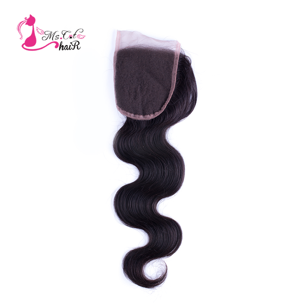 Ms Cat Hair Brazilian Body Wave Lace Closure 4