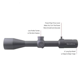 Vector Optics Marksman 6-24x50 FFP Tactical Riflescope Hunting Rifle Scope Side Focus Min 10Yds 1/10MIL Adjustment .30 06 Win 2