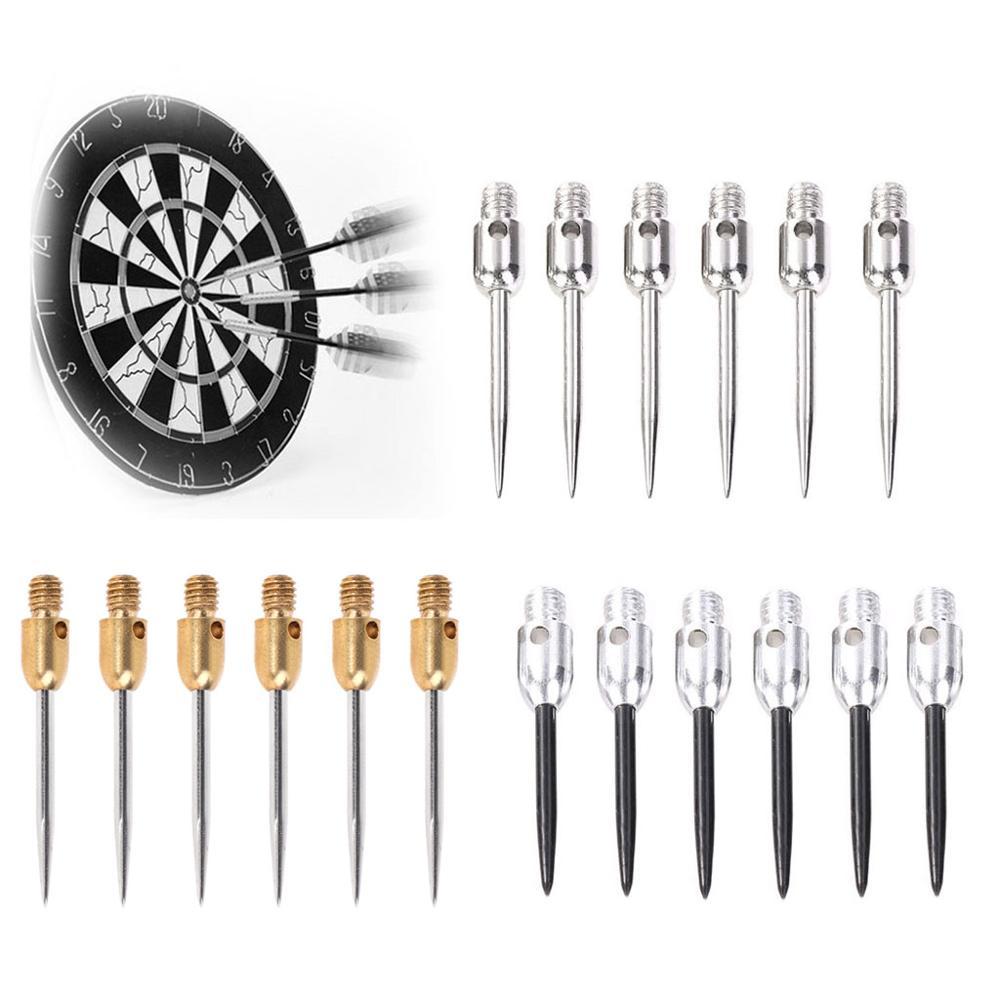 6pcs 2BA Thread Dart Steel Tip Professional Replaceable Non-Drop Club Game Gold