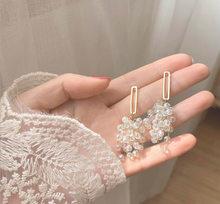 S925 Needle Earrings for Women Long Crystal Copper Women Fashion Earrings Trendy Jewelry 2020 Wholesale Korean Fashion