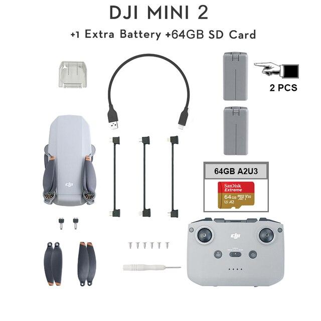 DJI Mavic Mini 2 2pcs batteries + 64GB SD Card