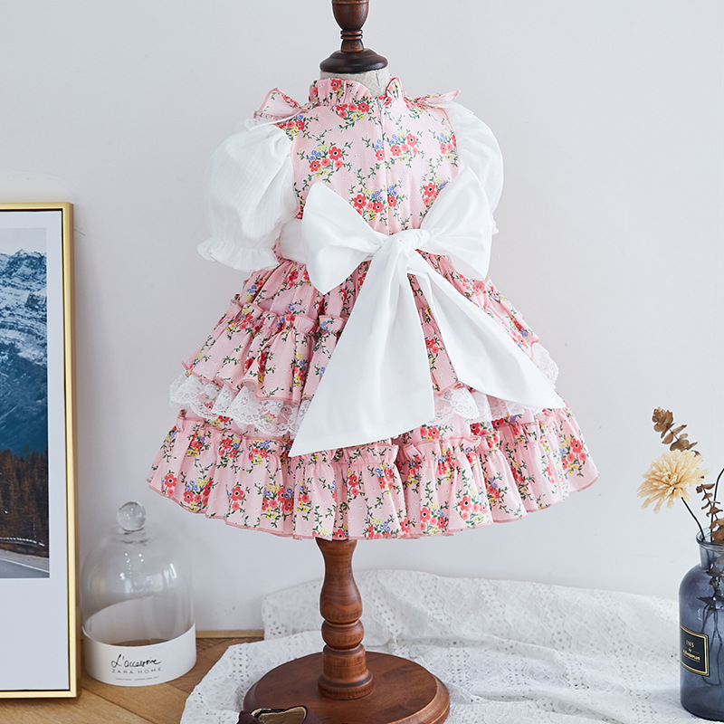 vestido espanhol infantil fantasia de princesa real 01