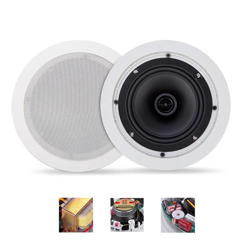 Coaxial Fxed-resistance Ceiling Speaker Home eEmbedded Wall-mounted Speaker Fixed-pressure Ceiling Speaker