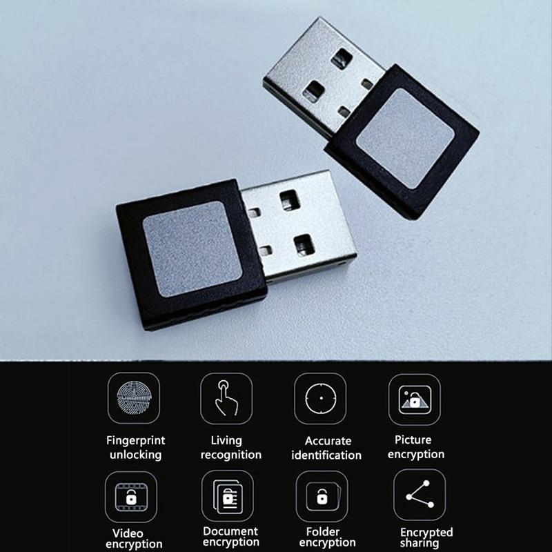 For Windows 10 Security Key Reader Laptop Office PC Sensor Mini Fingerprint Scanner USB Fingerprint Reader Interface Computer