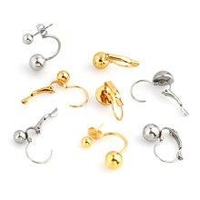 Crochets de boucles d'oreilles en acier inoxydable, 10 pièces, pièces, bricolage, Base de boucle d'oreille, bijoux HXD
