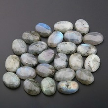 10 шт. натуральный камень эллиптической формы лабрадорит, кабошон без отверстий бусины для изготовления самодельные Украшения, Аксессуары бусины