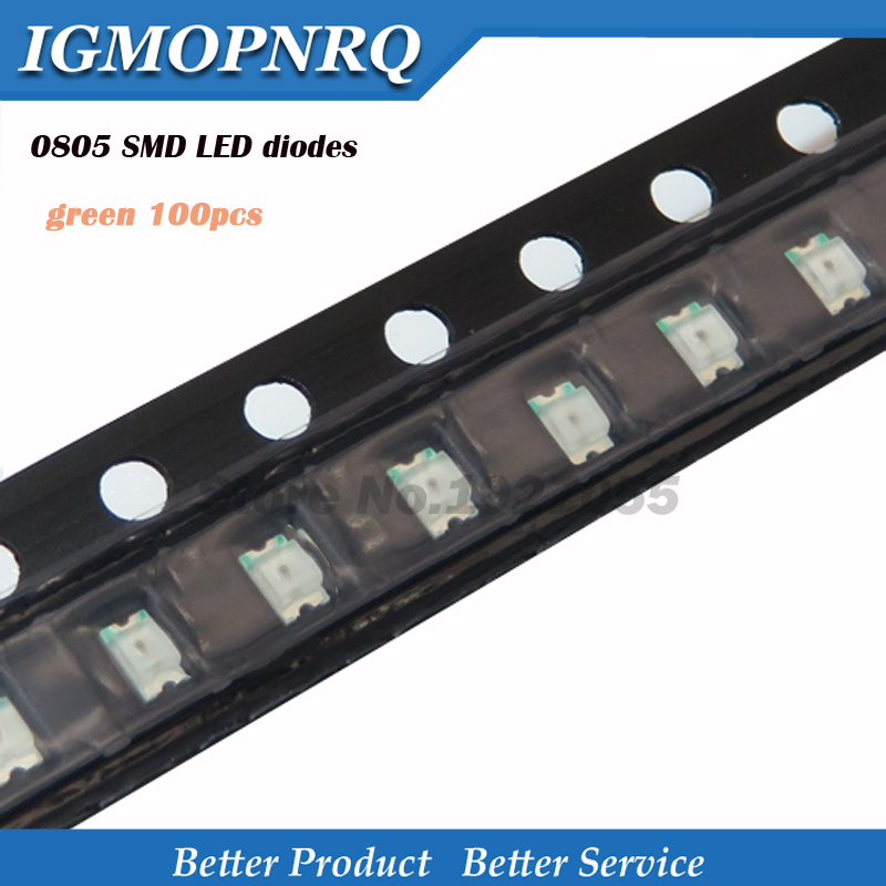 100pcs Superior Leds 0805 SMD Led Light Green 0805 Light-emitting New