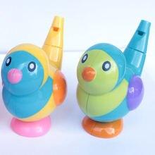 Креативный пластиковый мультяшный водяной свисток с птицами