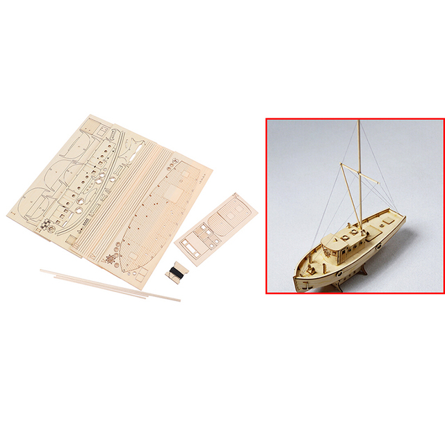 1/30 Nurkse Assembly Wooden Sailboat DIY Wooden Kit Puzzle Toy Sailing Model Ship Gift for Children and Adult 6