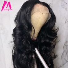 lace front human hair wigs for black women body wave short long brazilian remy hair wigs preplucked with baby hair 13x4(China)