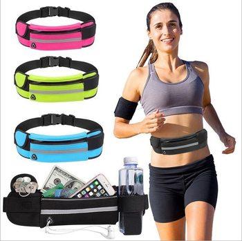Waterproof Running Waist Bag Canvas Sports Jogging Portable Outdoor Phone Holder Belt Bag Women Men Fitness Sport Accessories 1