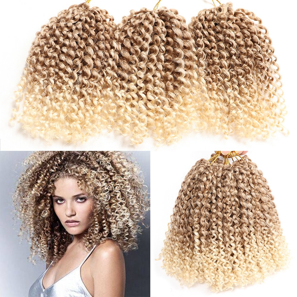 jerry curl Jamaican marlybob crochet hair afro kinky curly crochet braid curly wave crochet braiding synthetic hair extension