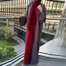 ИД Мубарак Кафтан Дубай абайя турецкое кимоно кардиган хиджаб