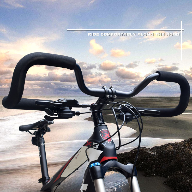 TOP! Bicycle Handlebar Mountain Road Bike Butterfly Handlebar Bike Fixed Gear Rebuilding Aluminum 31.8X580Mm with Cover|Bicycle Grips| |  - title=