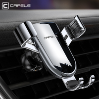 Cafele Auto-locked Gravity Car Phone Holder Stand for Air Vent Mount Phone Holder In Car 360 Rotation Metal Universal Stand