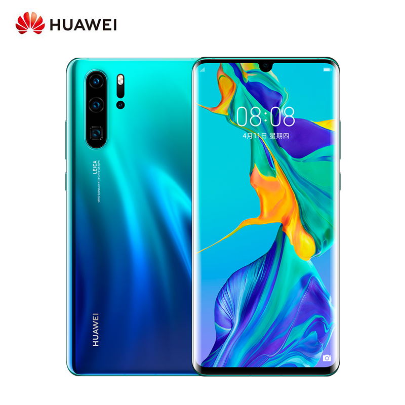 Original Global Huawei P30 Pro Smartphone 8GB RAM 256GB ROM 6.47 inch 4G GSM Android 9.0 Mobile Phone 40MP + 32MP Leica 4 Camera image