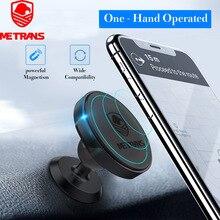 Metrans מגנטי מכונית טלפון בעל עבור iPhone 360 תואר סיבוב האוויר Vent מחזיק רכב הר טלפון Stand suporte celular paracarro