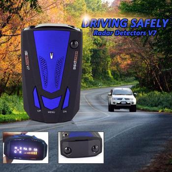 Car Radar Detector Auto 360 Degree Vehicle Speed Voice Alert Alarm Warning City/Highway Mode Car Speed Alarm System LED Display car radar detector english russian auto 360 degree vehicle v3 speed voice alert 87he