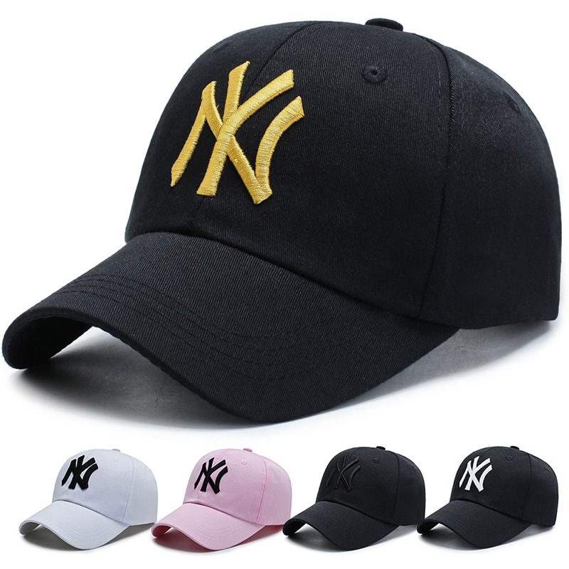 2020 NY Three-dimensional Embroidery Dad Hat Men Women Summer Fashion Baseball Snapback Cap Wild Visor Caps Adjustable Bone Hats