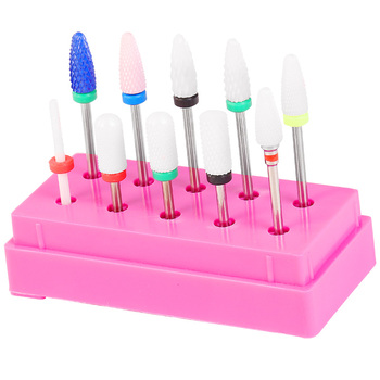 "CHNRMJL-Kit de brocas rotativas para uñas, 7/10 Uds., 3/32 "", fresa eléctrica para manicura y Arte para uñas"