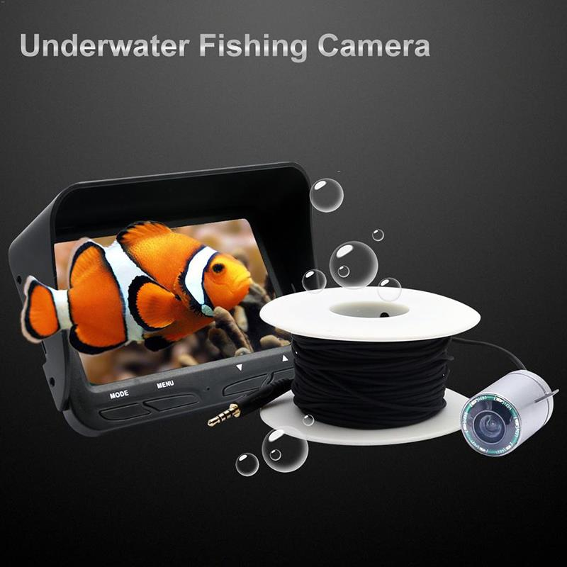 Fish Finder Fishing Camera LED Bait Diving Pc7070 30M Underwater Camera Lamp Black Technology