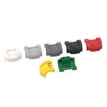 Bloco de construção brinquedo diy peças 98835 3x4x1.67 2/3 curvo frente fender tijolo peça presente construção crianças brinquedo frete grátis